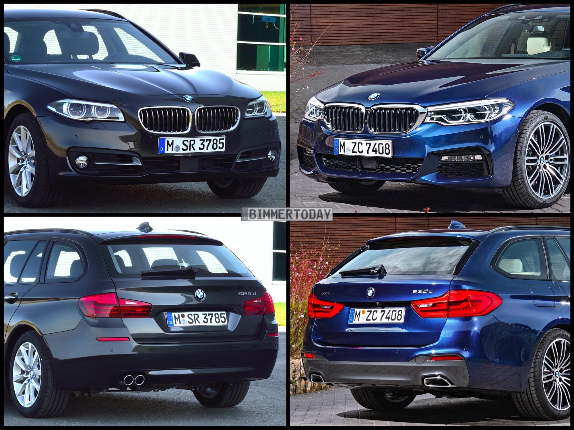 Bild Vergleich BMW 5er G31 F11 LCI Touring 2017 01