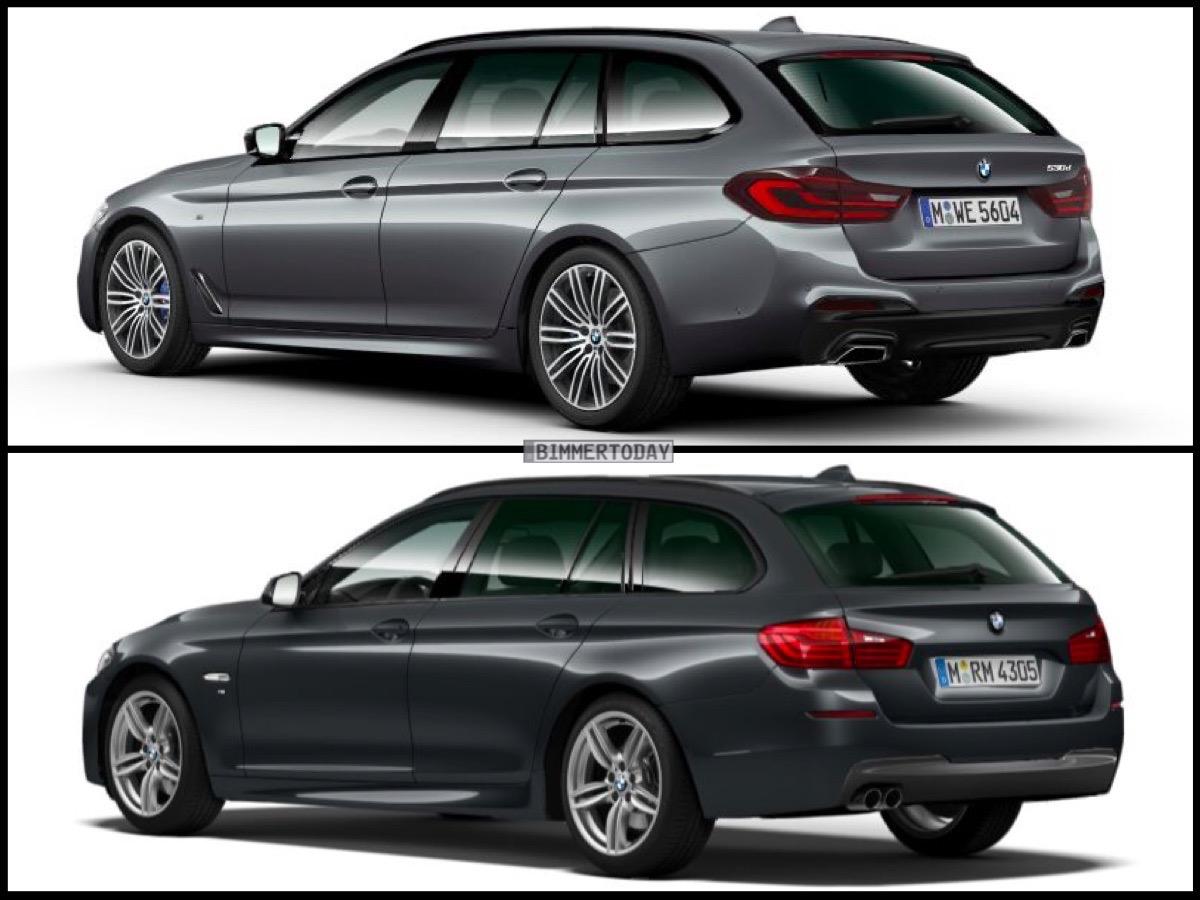 Image Comparison Bmw G31 5 Series Touring Against