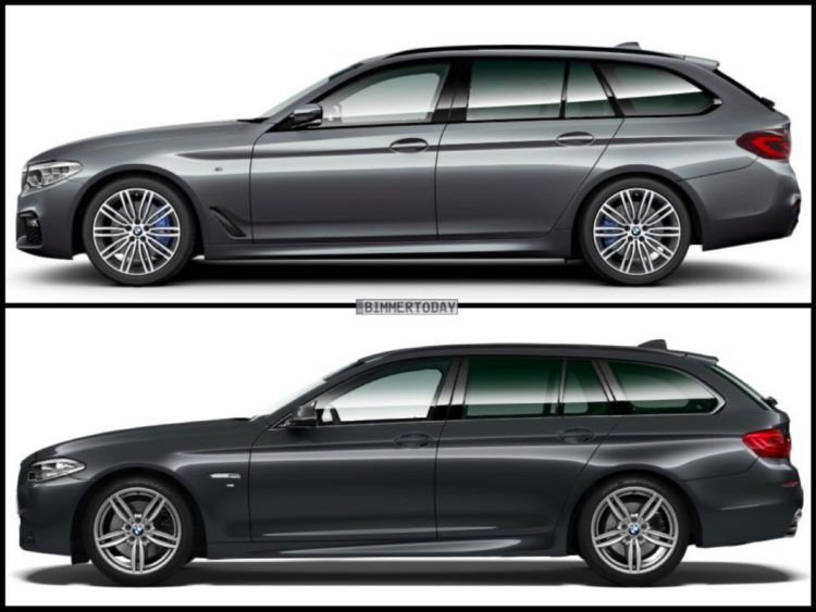 image comparison bmw g31 5 series touring against. Black Bedroom Furniture Sets. Home Design Ideas