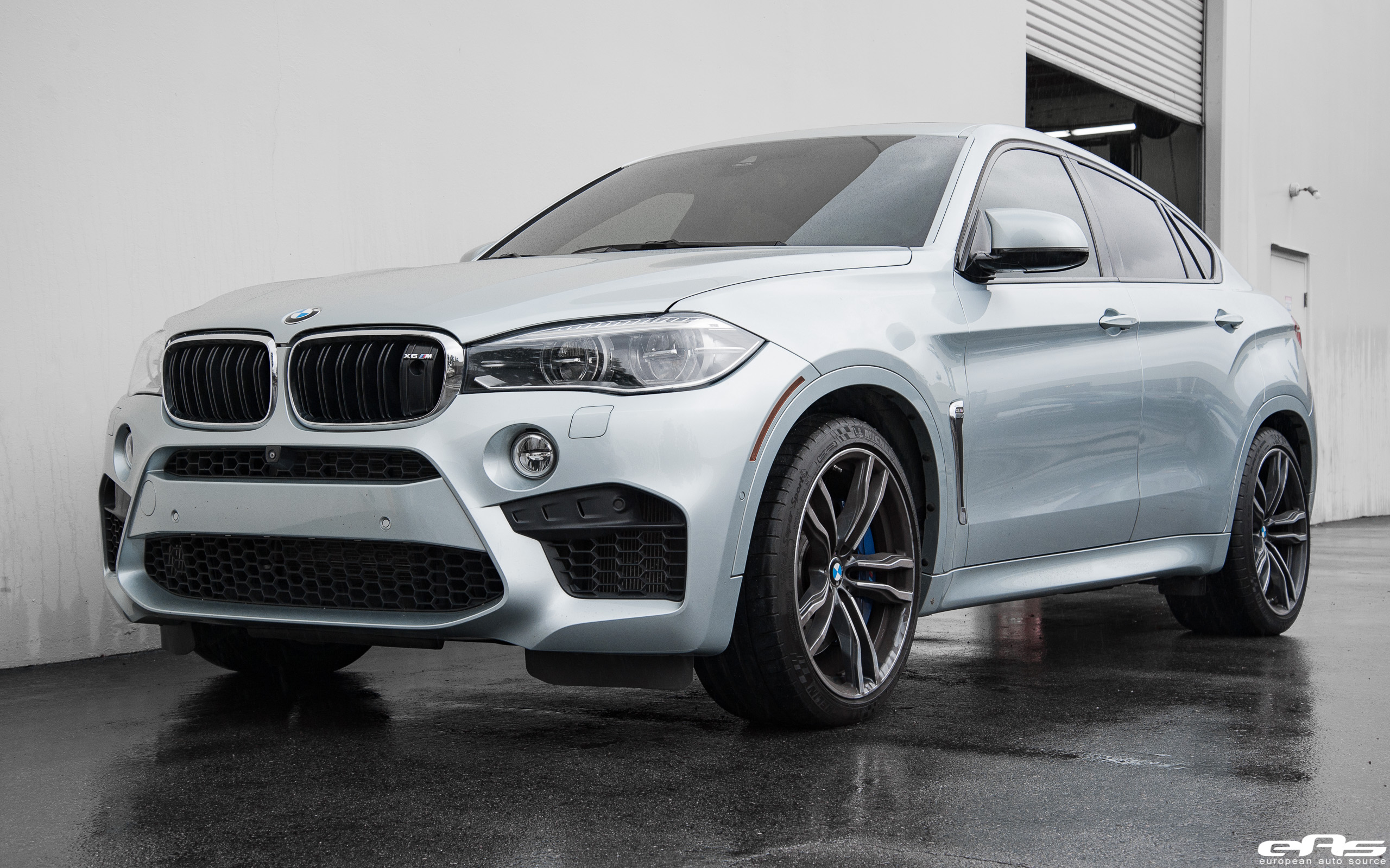 Silverstone Metallic Bmw X6 M Gets Lowered By European