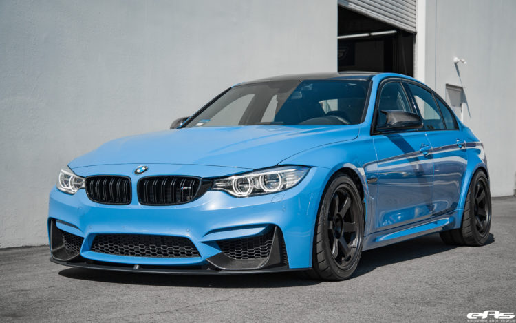 Yas Marina Blue BMW M3 With M Performance Goodies Volk Wheels 4 750x469