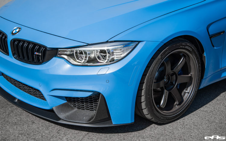 Yas Marina Blue BMW M3 With M Performance Goodies Volk Wheels 6 750x469
