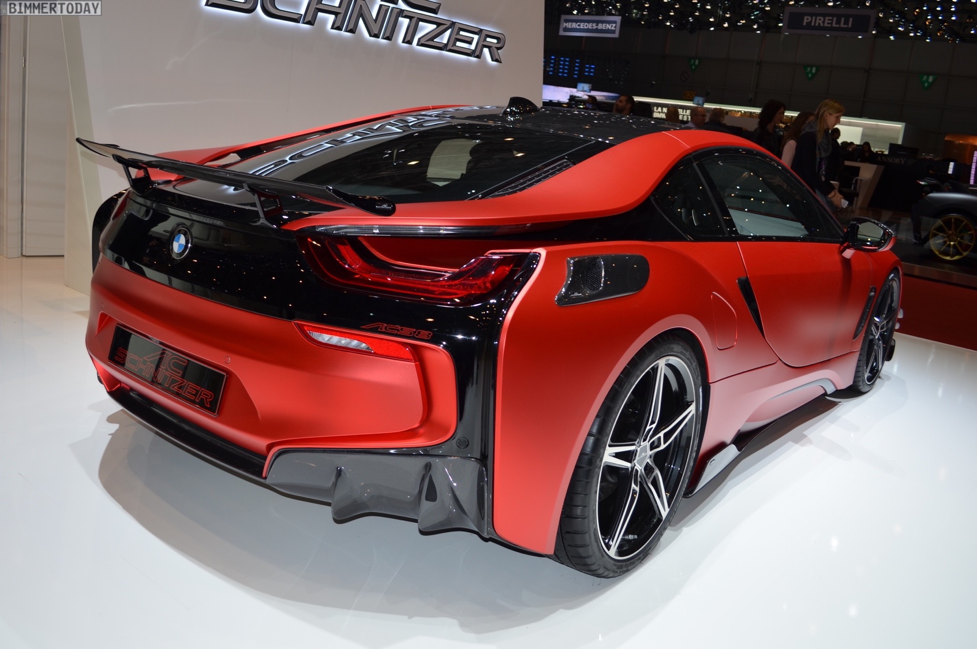 Floor Mats Bmw I3 >> More photos of the hot Inferno Red BMW i8 by AC Schnitzer