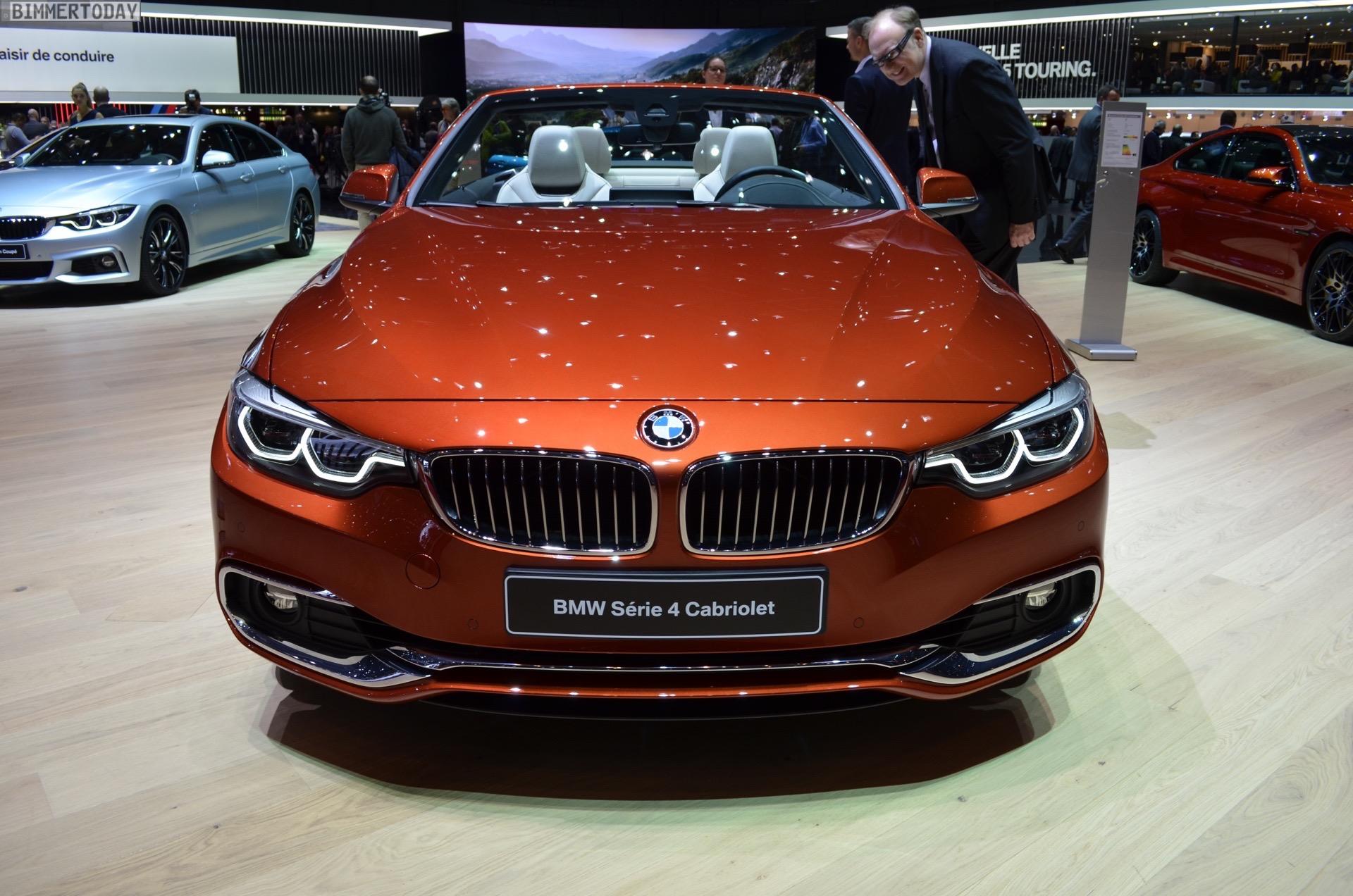 2017 Geneva Bmw 4 Series Convertible Facelift In Sunburst Orange
