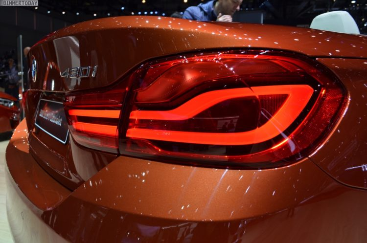 2017 BMW 4er Cabrio F33 LCI Facelift Sunset Orange Genf Live 08 750x497
