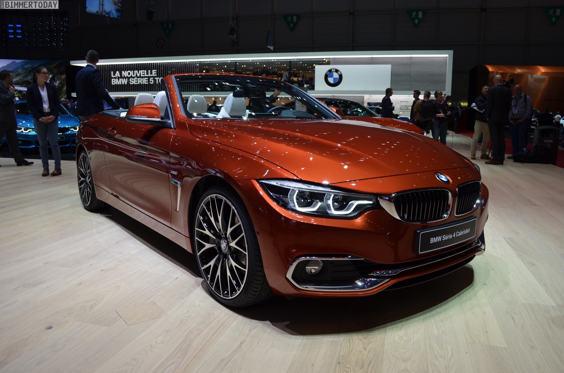 2017 geneva bmw 4 series convertible facelift in sunburst. Black Bedroom Furniture Sets. Home Design Ideas