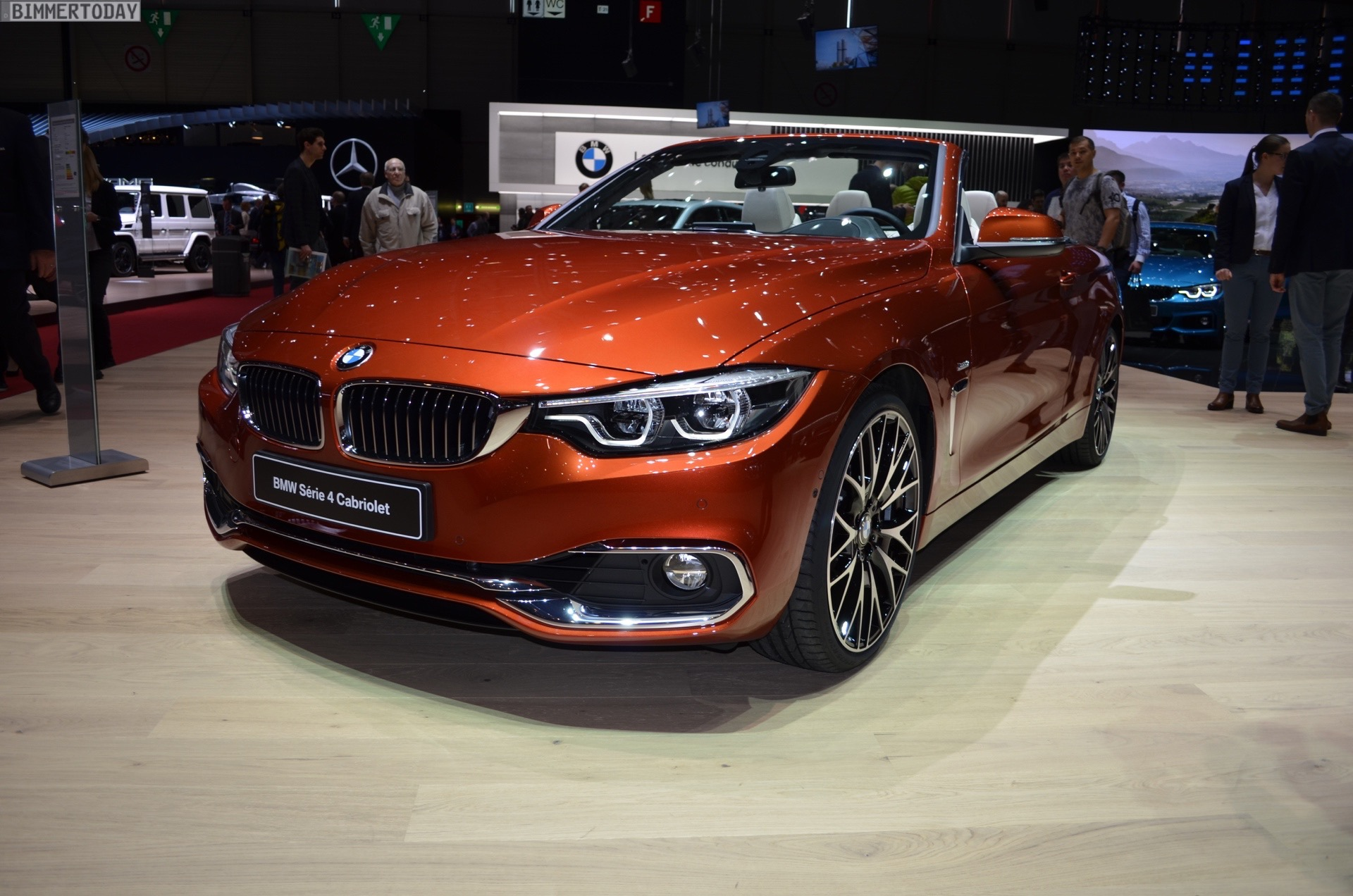 Bmw 428i Convertible 2017 >> 2017 Geneva: BMW 4 Series Convertible facelift in Sunburst Orange