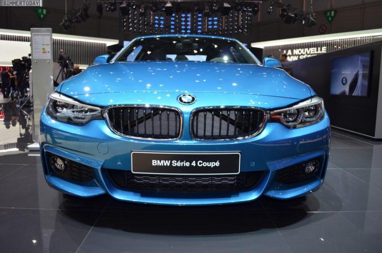 2017 BMW 4er F32 LCI Facelift Coupe 440i Snapper Rocks Blue Genf Live 04 750x497