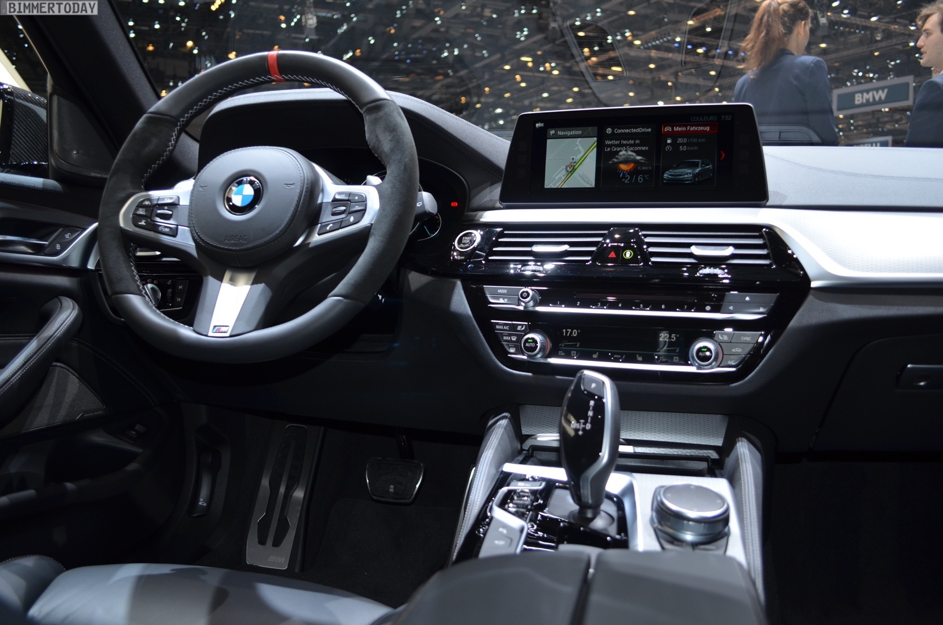 the steering wheel is of course combined with shift paddles on all vehicles with an automatic eight speed automatic transmission radiating even more
