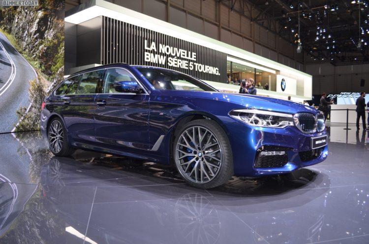 2017 BMW 5er Touring G31 M Sportpaket 530d xDrvie Mediterranblau Genf Live 01 750x497