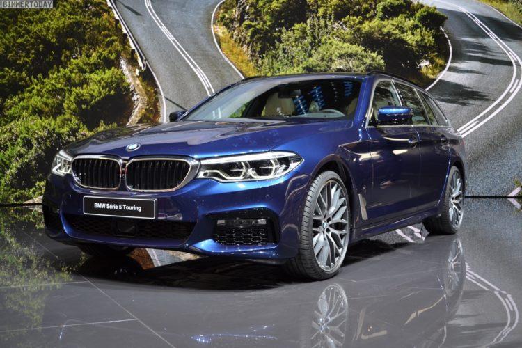 2017 BMW 5er Touring G31 M Sportpaket 530d xDrvie Mediterranblau Genf Live 14 750x500