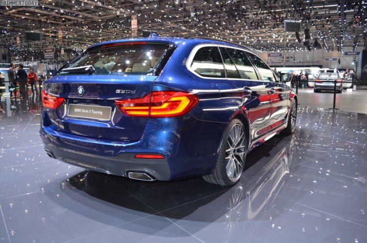2017 BMW 5er Touring G31 M Sportpaket 530d xDrvie Mediterranblau Genf Live 16 750x497
