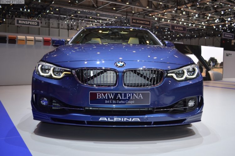 2017 BMW Alpina B4 S Coupe 4er F32 LCI Facelift Genf Live 05 750x497
