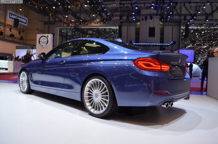 2017 BMW Alpina B4 S Coupe 4er F32 LCI Facelift Genf Live 17 750x497