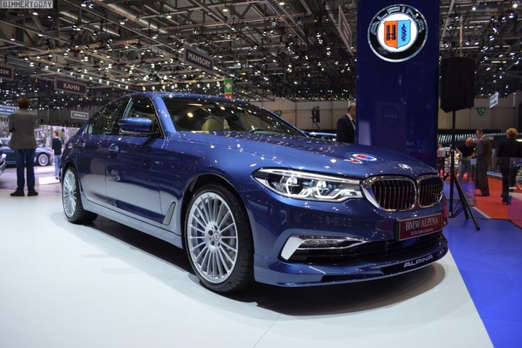 2017 BMW Alpina B5 G30 5er Limousine Genf Autosalon Live 01 750x500
