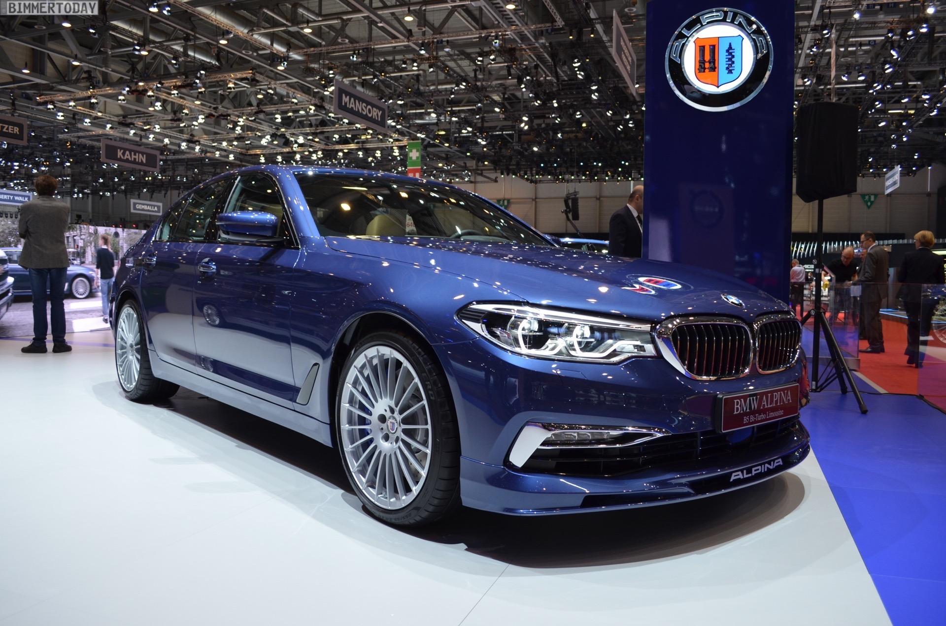 2017 BMW Alpina B5 G30 5er Limousine Genf Autosalon Live 01