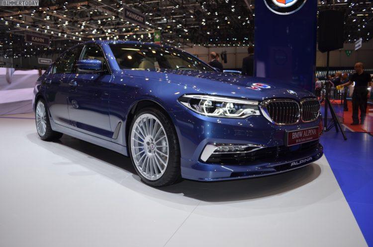 2017 BMW Alpina B5 G30 5er Limousine Genf Autosalon Live 11 750x497