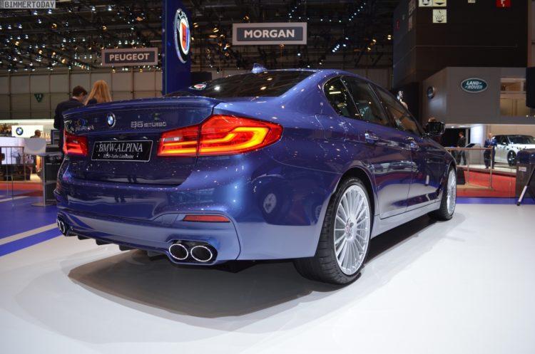 2017 BMW Alpina B5 G30 5er Limousine Genf Autosalon Live 13 750x497