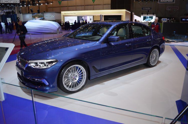 2017 BMW Alpina B5 G30 5er Limousine Genf Autosalon Live 15 750x497