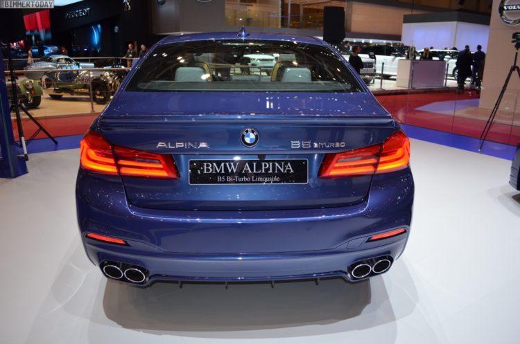 2017 BMW Alpina B5 G30 5er Limousine Genf Autosalon Live 17 750x497