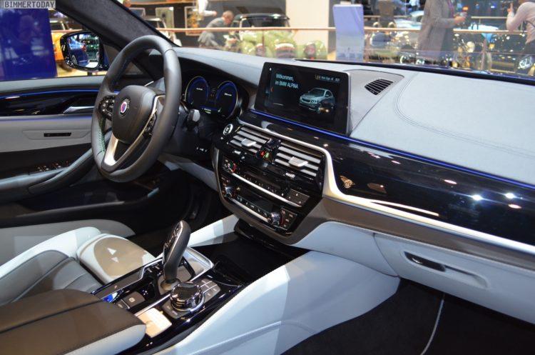 2017 BMW Alpina B5 G30 5er Limousine Interieur Genf Autosalon Live 03 750x497