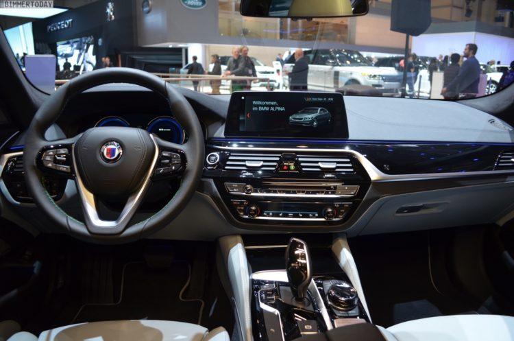 2017 BMW Alpina B5 G30 5er Limousine Interieur Genf Autosalon Live 09 750x497