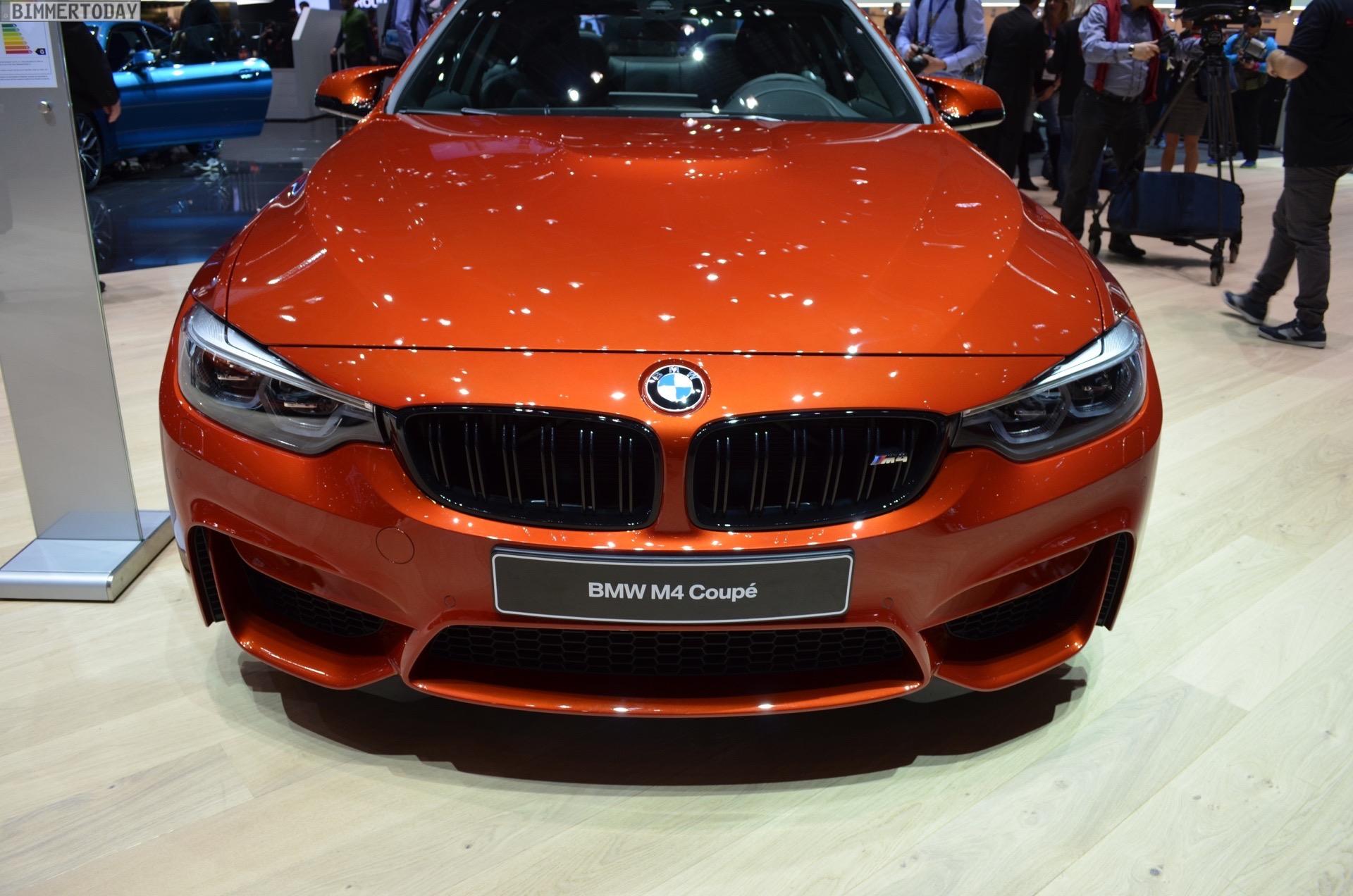 2017 BMW M4 F82 LCI Facelift Competition Coupe Sakhir Orange Genf Live 04