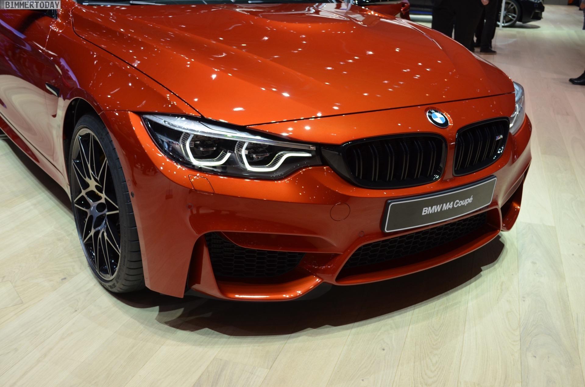 2017 BMW M4 F82 LCI Facelift Competition Coupe Sakhir Orange Genf Live 31
