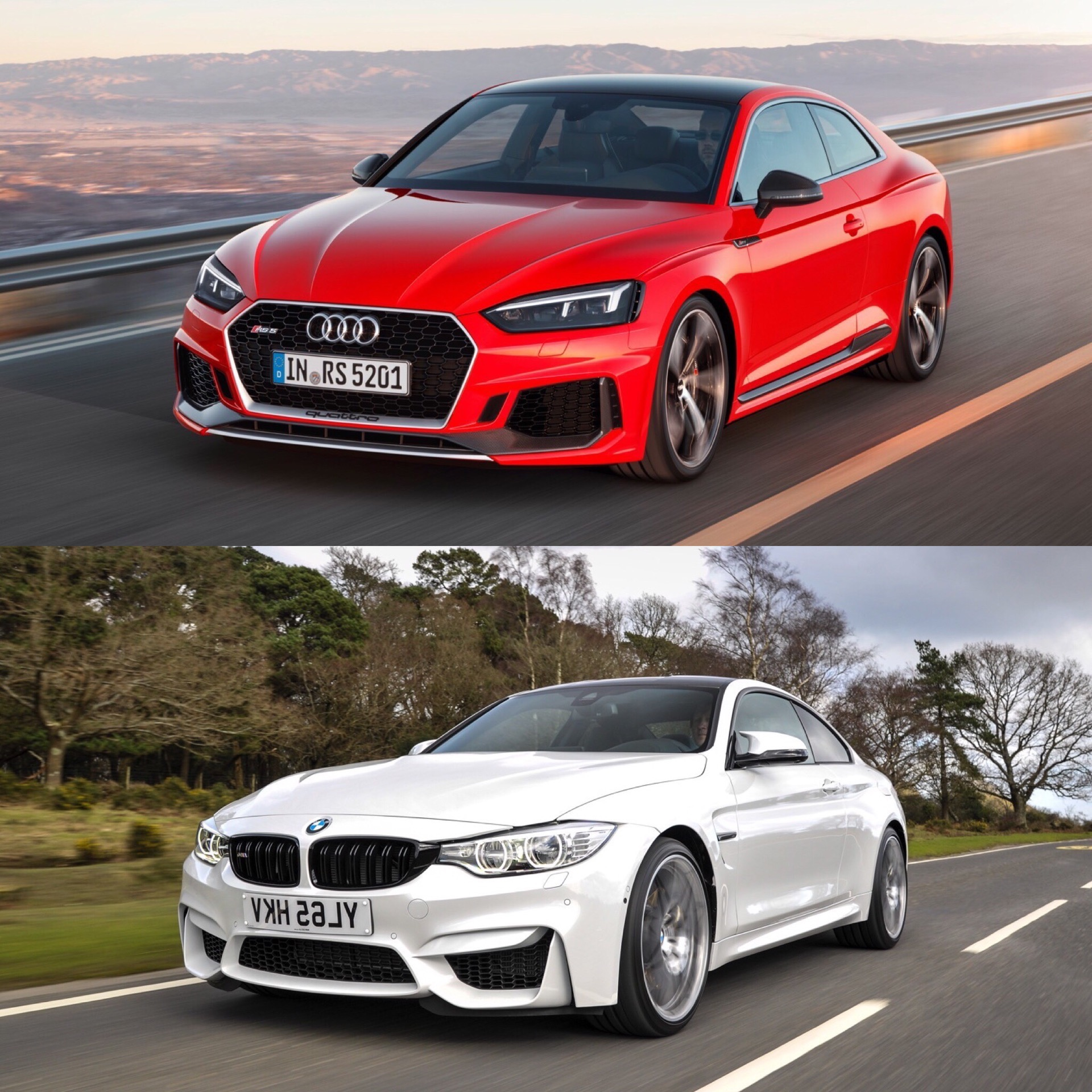 Photo Comparison Bmw M4 Competition Package Vs Audi Rs5