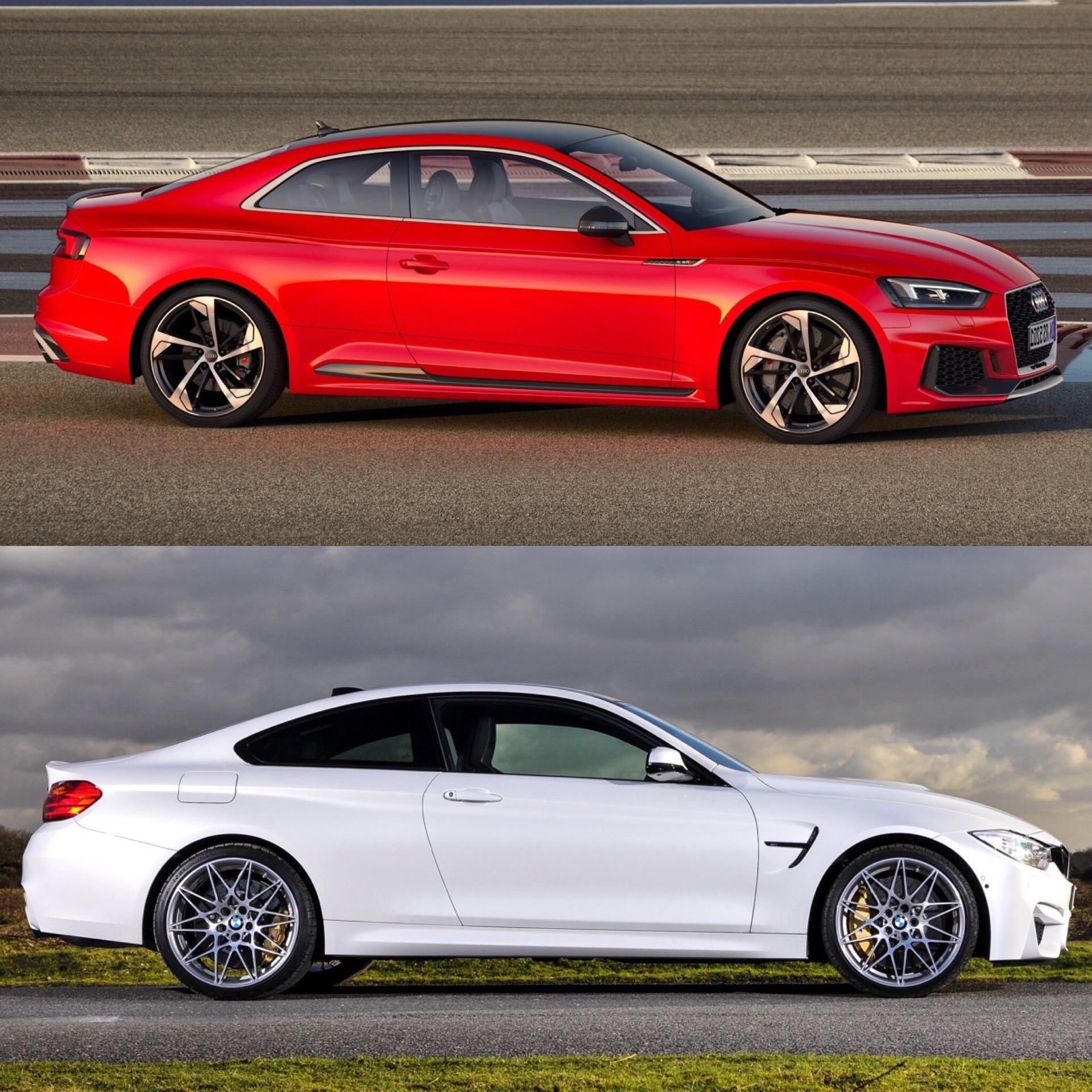 Photo Comparison: BMW M4 Competition Package Vs Audi RS5