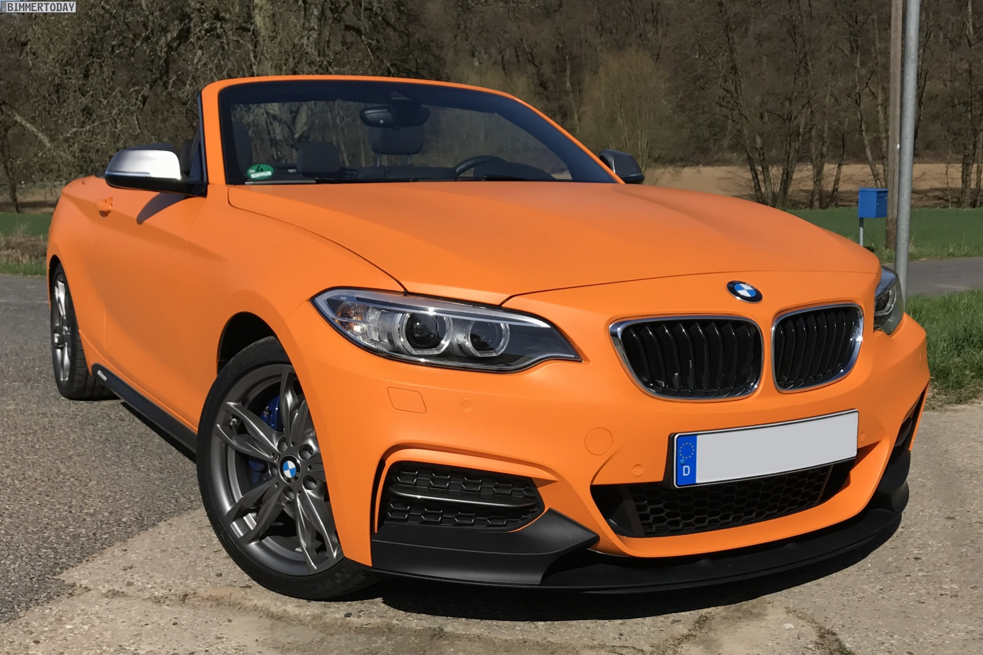 Bmw M240i Convertible In Fire Orange Gets Performance Upgrades