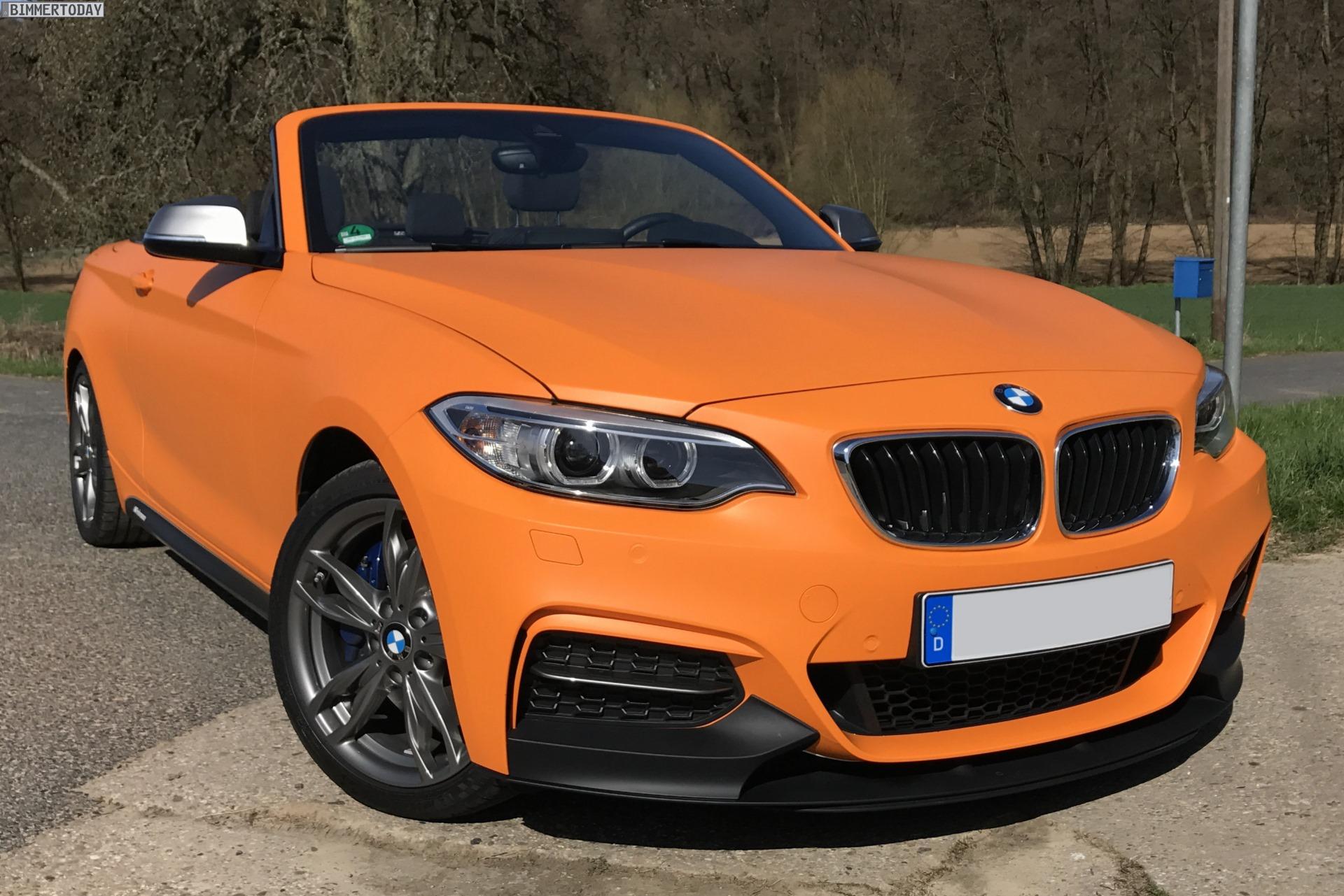 BMW M240i Cabrio M Performance Tuning Folierung Orange matt 01
