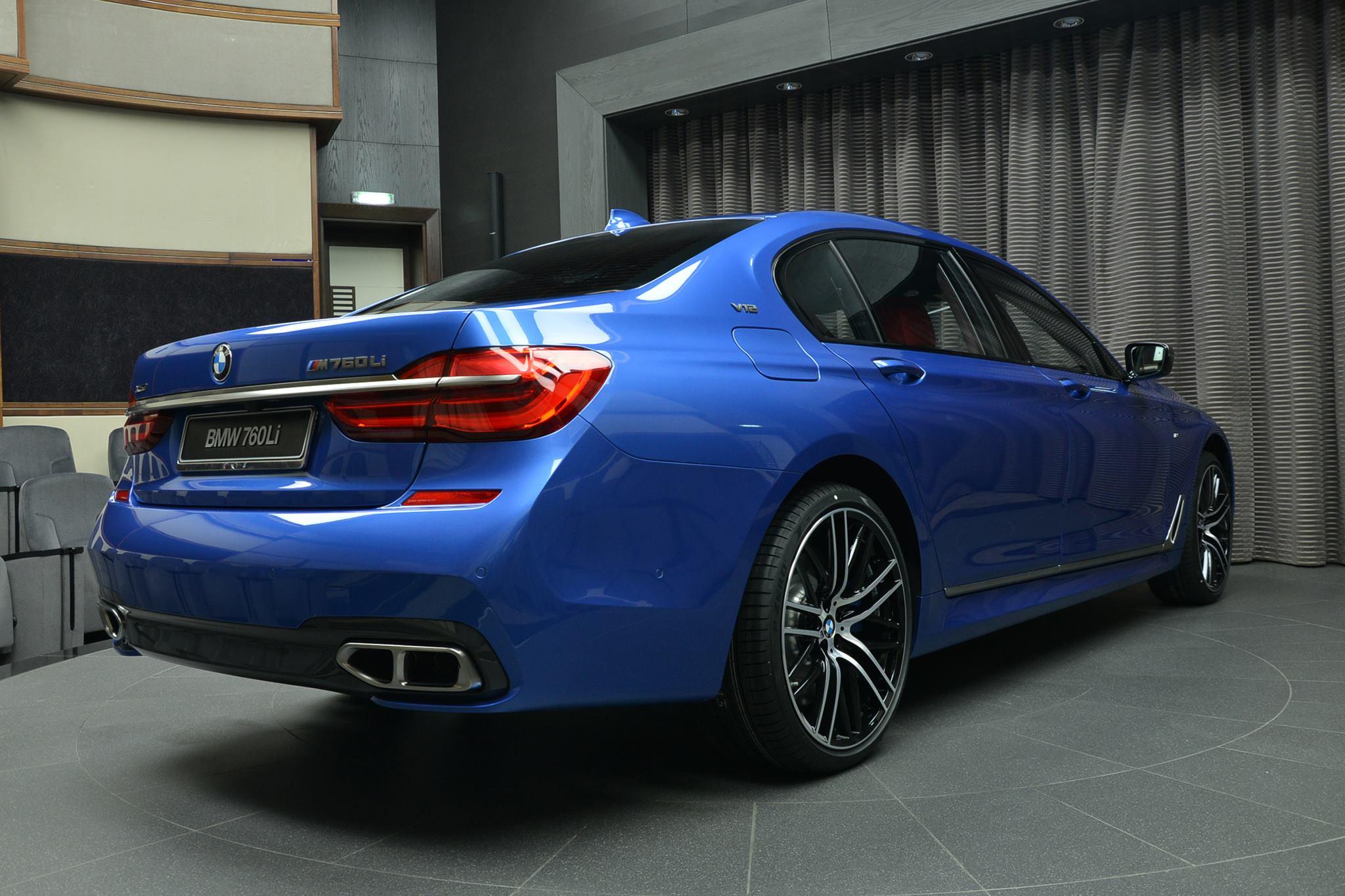 Bmw M760li Xdrive V12 With Individual Paint Estoril Blue