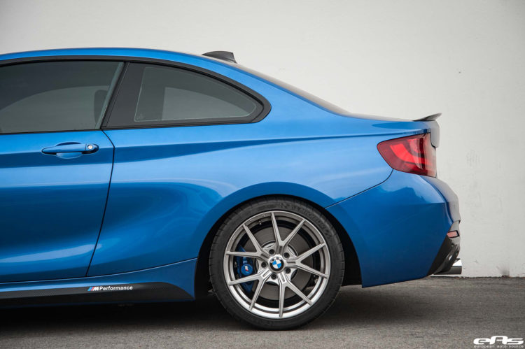 Estoril Blue F22 M240i With Dinan M Performance And VMR Wheels Additions Installed 12 750x499