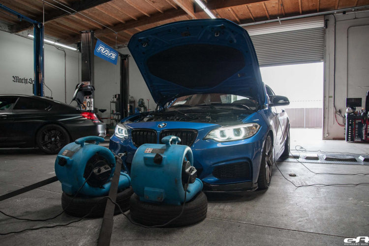 Estoril Blue F22 M240i With Dinan M Performance And VMR Wheels Additions Installed 6 750x500