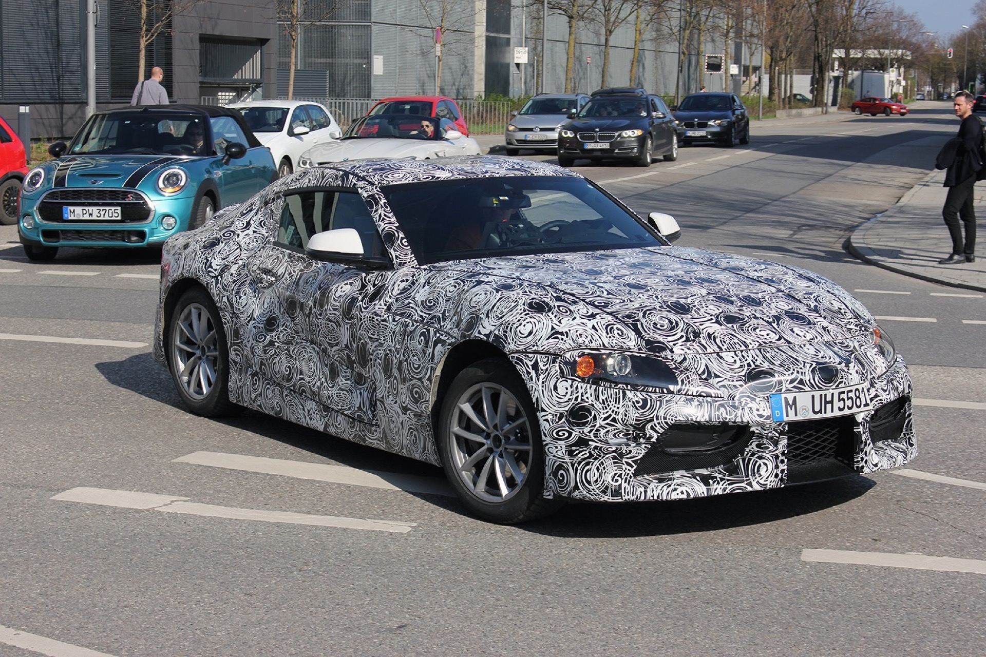 Next Gen Bmw Z4 Spotted Testing In Munich Along With Supra