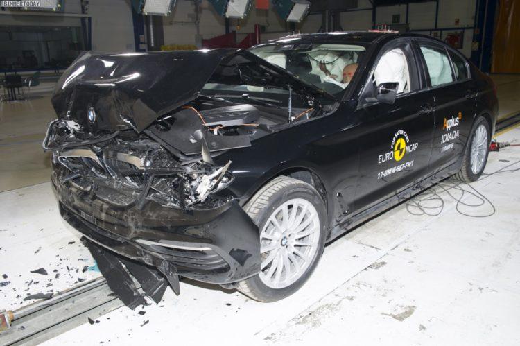 2017 BMW 5er G30 Crashtest Euro NCAP 01 750x499