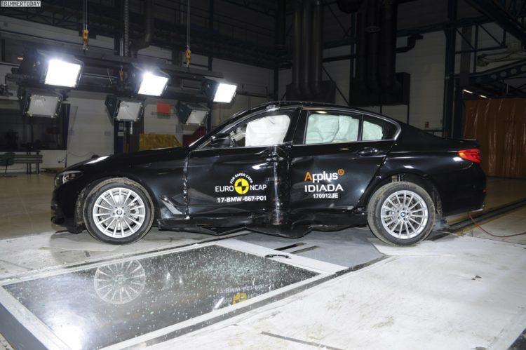 2017 BMW 5er G30 Crashtest Euro NCAP 03 750x499