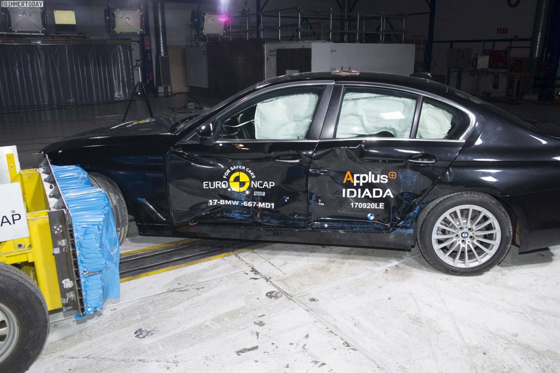 2017 BMW 5er G30 Crashtest Euro NCAP 06