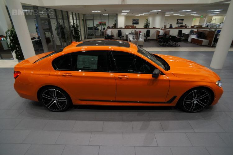 2017 BMW 750i Fire Orange Century West BMW 32 750x498
