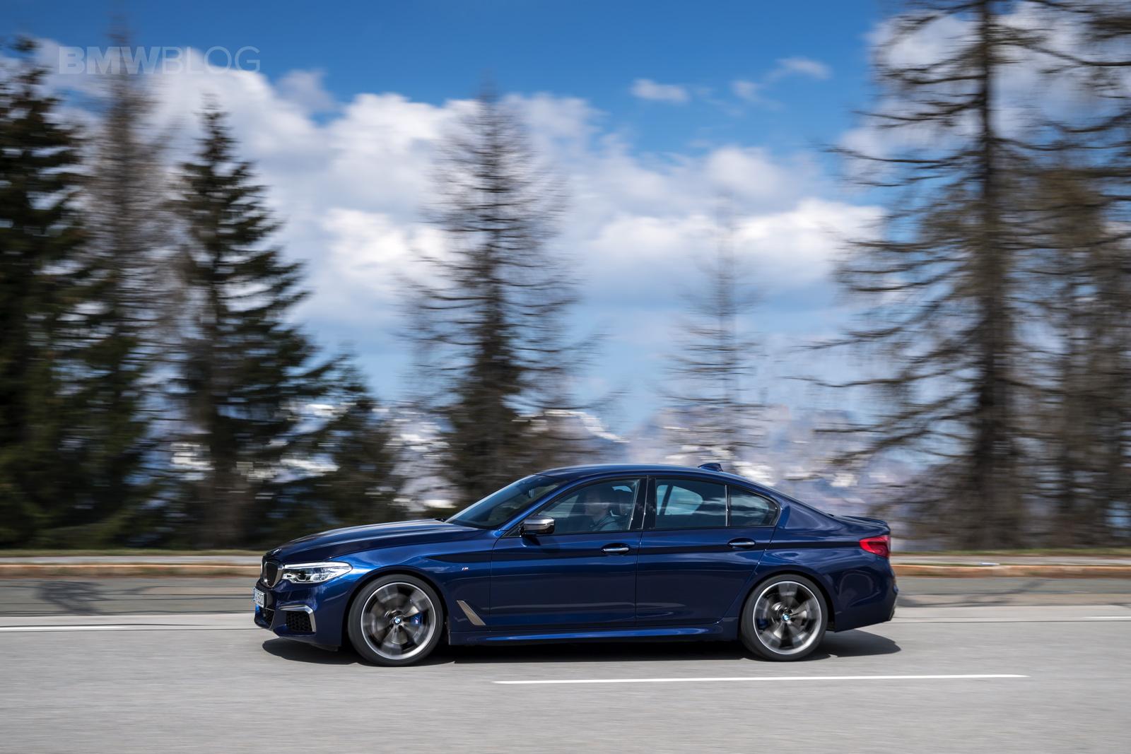2018 BMW M550i xDrive test drive 24