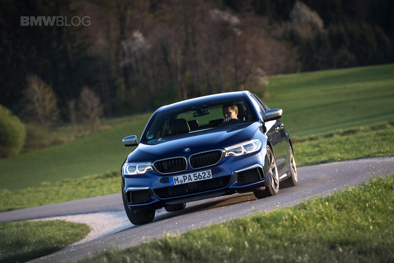2018 BMW M550i xDrive test drive 33