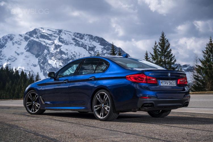 2018 BMW M550i xDrive test drive 38 750x500