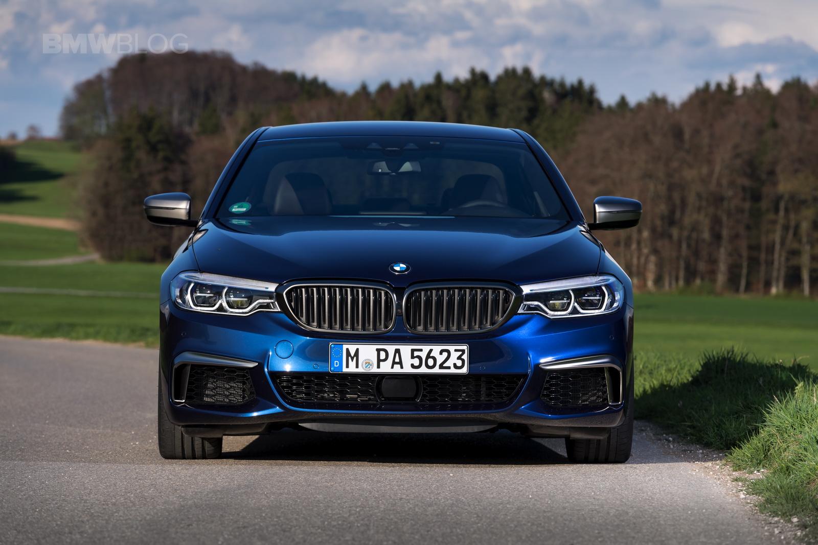 2018 BMW M550i xDrive test drive 41