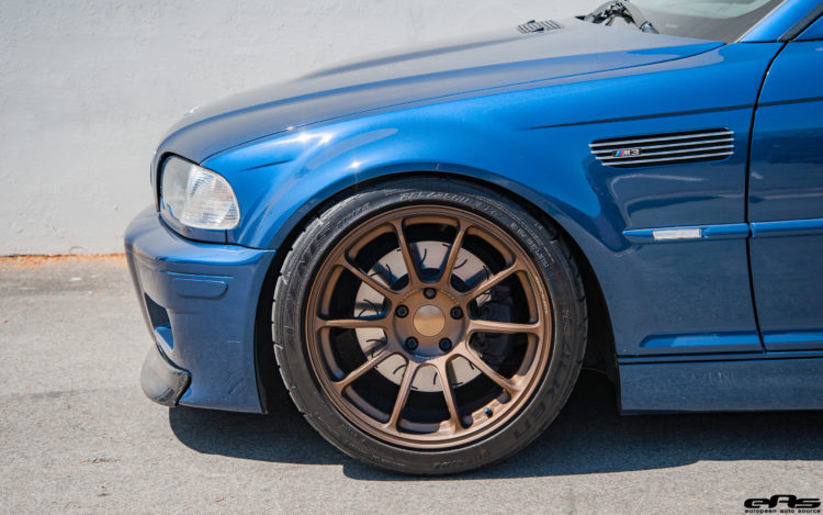 A Mystic Blue BMW E46 M3 Gets Aftermarket Goodies At European Auto Source 2 750x469
