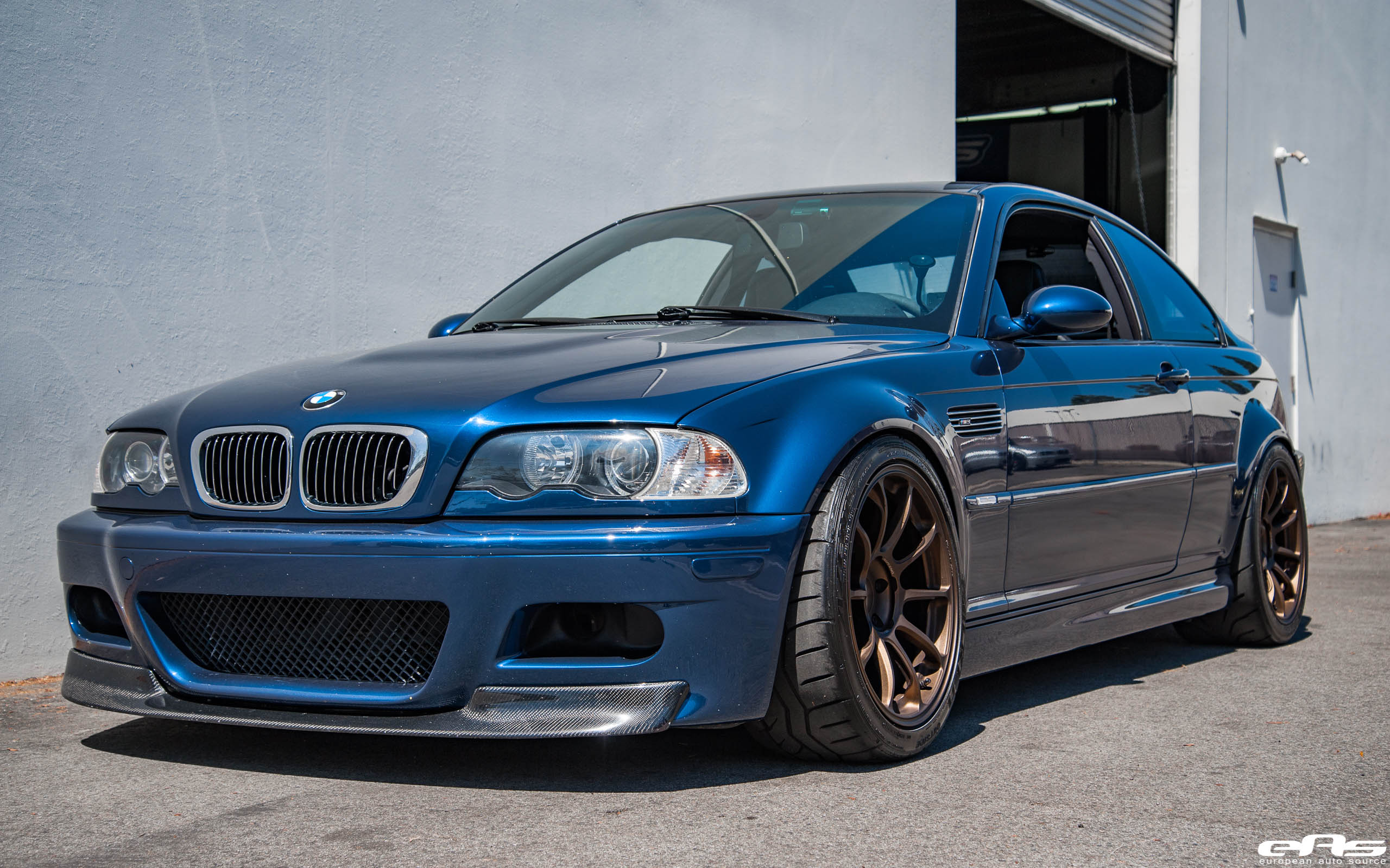 A Mystic Blue Bmw E46 M3 Gets Aftermarket Goodies At European Auto Source