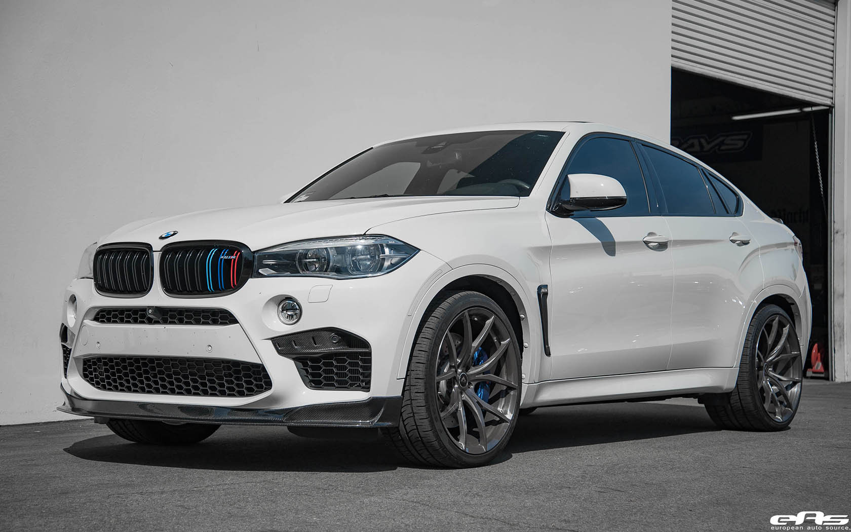 Alpine White Bmw X6 M With Ac Schnitzer Akrapovic Rkp And Vorsteiner Parts