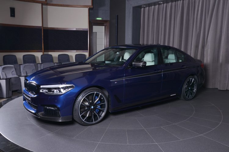 Mediterranean Blue Bmw 5 Series With M Performance Parts
