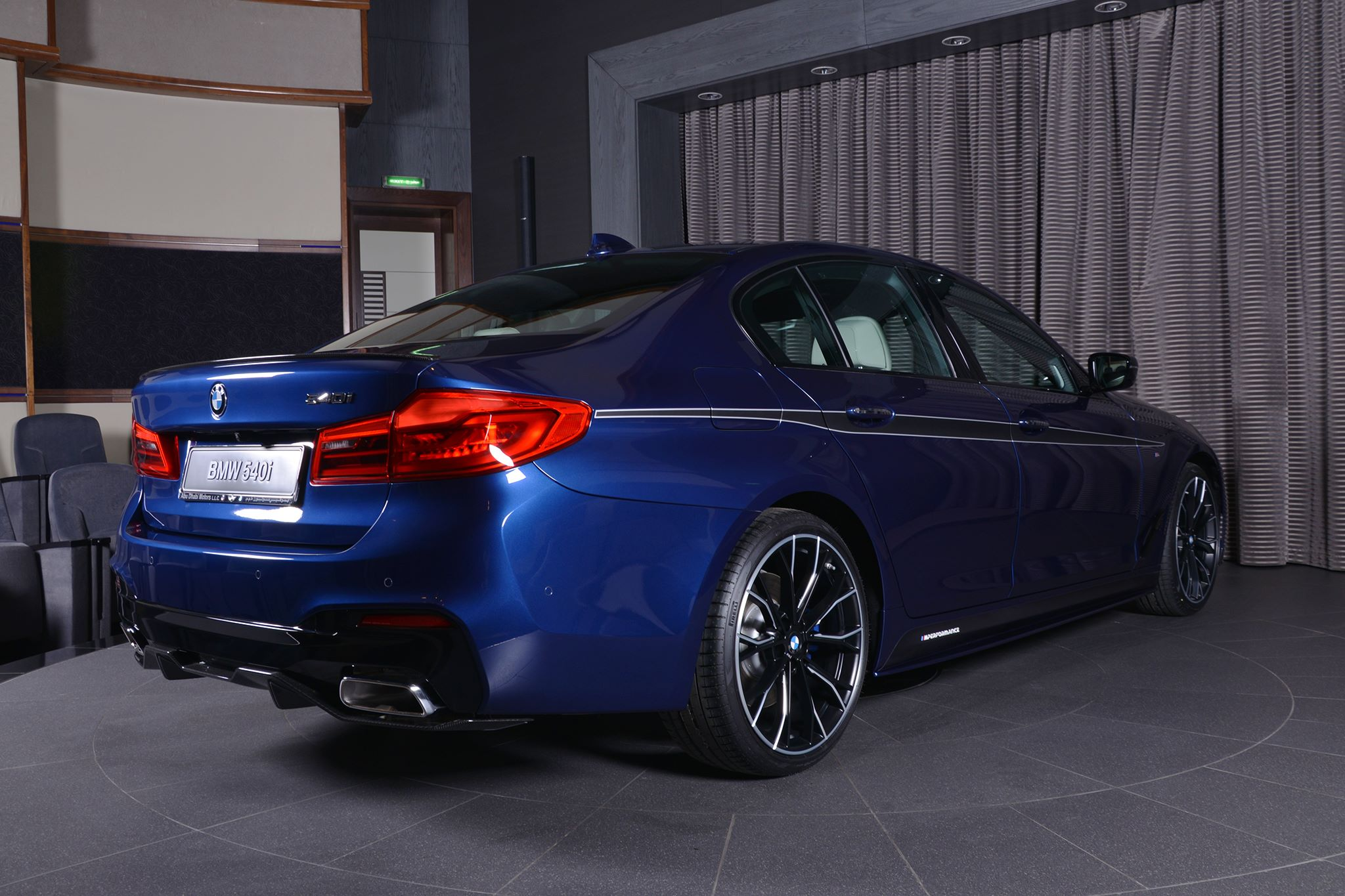 mediterranean blue bmw 5 series with m performance parts. Black Bedroom Furniture Sets. Home Design Ideas