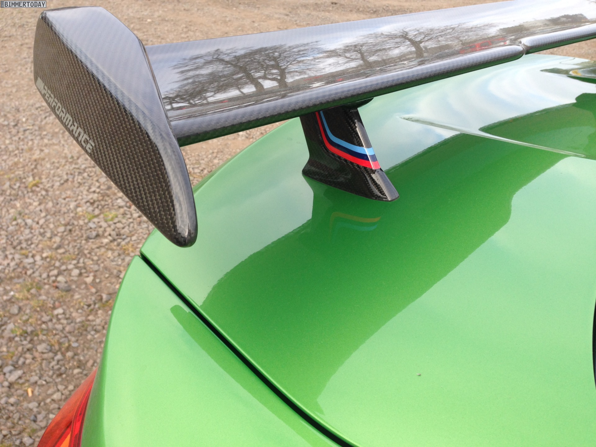BMW M4 in Java Green: Marco Wittmann shows company car